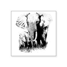 "elephats_mom_baby Square Sticker 3"" x 3"""