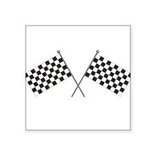 Checkered Flag Rectangle Sticker
