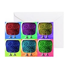 popart-owl Greeting Card