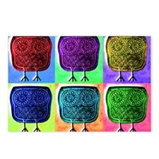 popart-owl Postcards (Package of 8)
