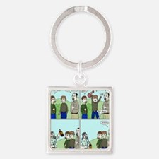 porcfest_party_3000 Square Keychain