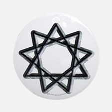 Nonagram or 9 Pointed Star  Ornament (Round)