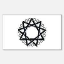 Nonagram or 9 Pointed Star Rectangle Decal
