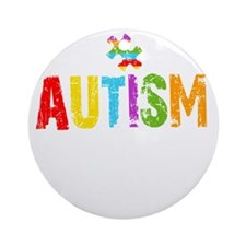 Autism Thing -dk Round Ornament