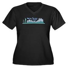 NYC Liberty Art Deco Plus Size T-Shirt