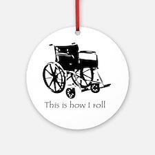 Wheelchair Round Ornament