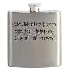 Czlowiek nie Pije na Czczo shirt Flask