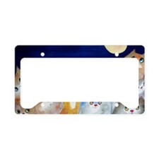 Moon Viewing Cats License Plate Holder