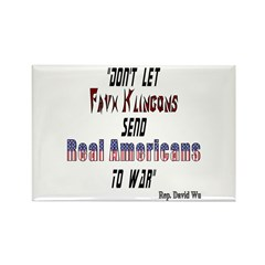 Faux Klingons Rectangle Magnet (10 pack)