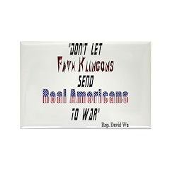 Faux Klingons Rectangle Magnet (100 pack)