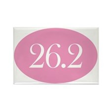 26 point 2 pink Rectangle Magnet