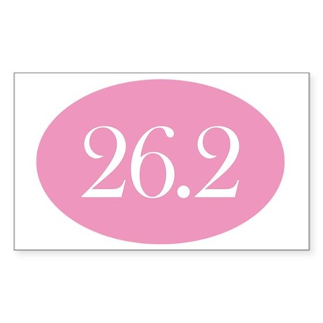 26 point 2 pink Sticker (Rectangle)