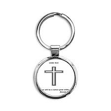 One national under God. Round Keychain