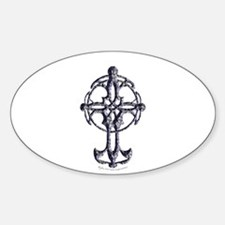 Celtic Cross Oval Decal