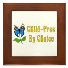 Child-Free By Choice Framed Tile