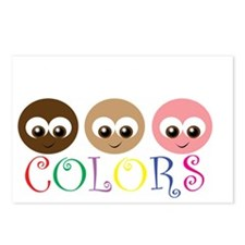 CUTE COMES IN ALL COLORS Postcards (Package of 8)