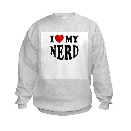 I Love My Nerd Kids Sweatshirt
