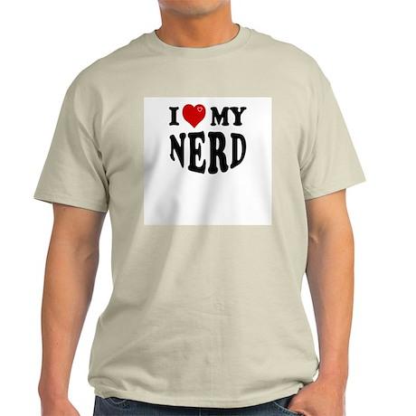 I Love My Nerd Ash Grey T-Shirt