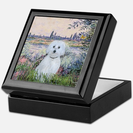By the Seine - Maltese (B) - MP2 Keepsake Box