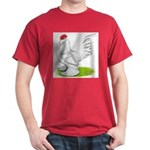 White d'Uccle Rooster Dark T-Shirt