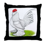 White d'Uccle Rooster Throw Pillow