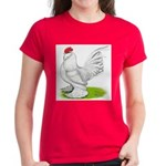 White d'Uccle Rooster Women's Dark T-Shirt
