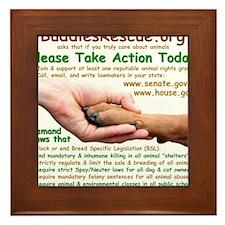 please_take_action_today Framed Tile