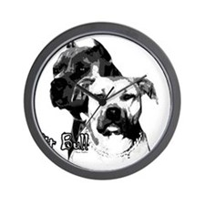 2dog head Wall Clock