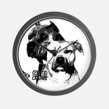 2dog head Wall Clock