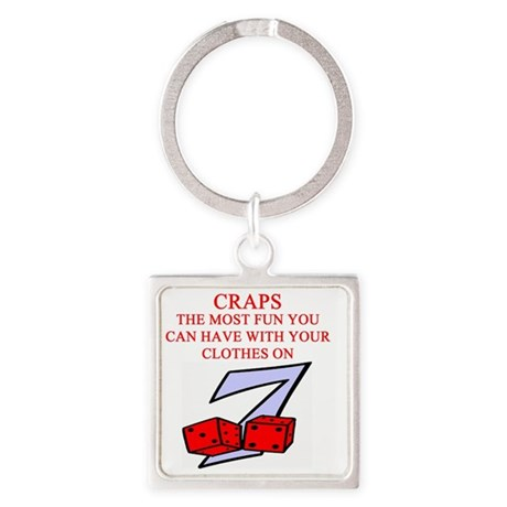 CRAPS joke Square Keychain