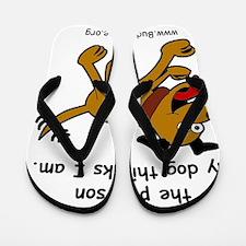 lord_help_me_be_brown_dog Flip Flops