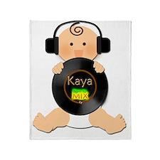 Deejay Baby Kaya with Headphones Throw Blanket