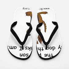lord_help_me_be_tan_dog Flip Flops