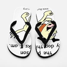 lord_help_me_be_vanilla_dog Flip Flops