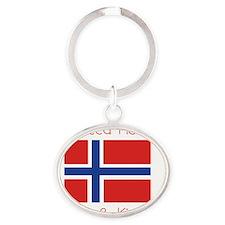 norwegian Oval Keychain
