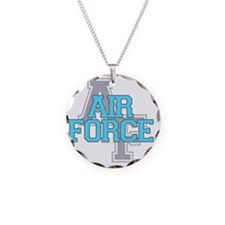 Air Force Varisty teal and g Necklace