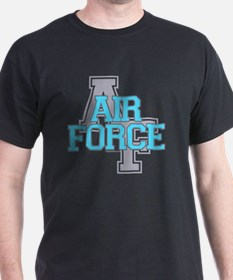 Air Force Varisty teal and gray copy T-Shirt