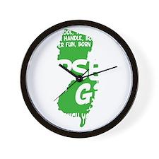 jersey girl(blk) Wall Clock