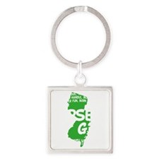 jersey girl(blk) Square Keychain
