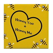 Honey_You_PILLOW Tile Coaster