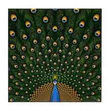 Peacock_Pillow Tile Coaster
