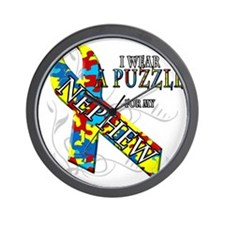 I Wear A Puzzle for my Nephew Wall Clock