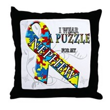 I Wear A Puzzle for my Nephew Throw Pillow