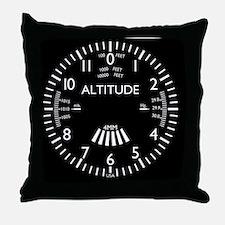altimeter_clock Throw Pillow