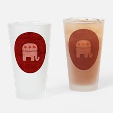 Pink GOP Republican Elephant Drinking Glass