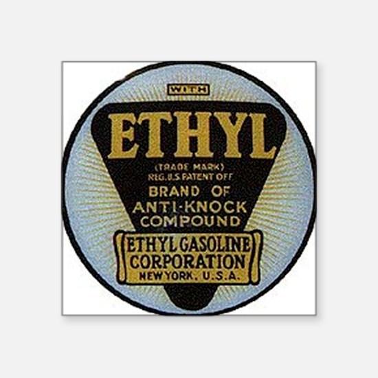 "ethyl2 Square Sticker 3"" x 3"""