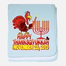 Happy Thanksgivukkah baby blanket