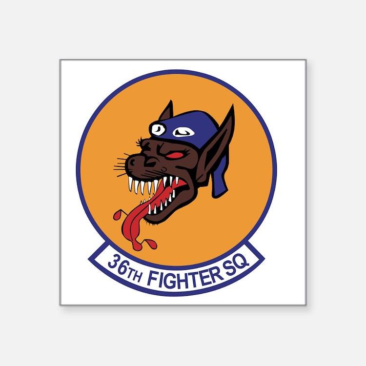 """36th_fighter_sq Square Sticker 3"""" x 3"""""""