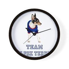 FIN-team-toy-fox-terrier Wall Clock