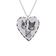 PeachesMattieMickOval Necklace Heart Charm